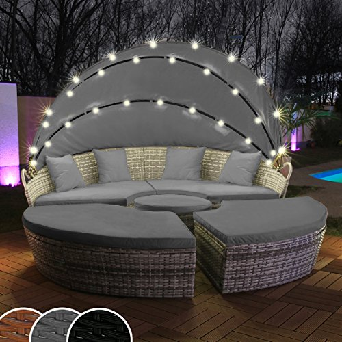 polyrattan lounge grau storeamore. Black Bedroom Furniture Sets. Home Design Ideas