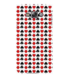 Vizagbeats Cards Symbols Back Case Cover for Samsung Galaxy E7 E700F
