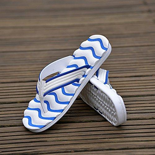 JACKSHIBO Herren Sommer Strand Zehentrenner Flip Flops Blau