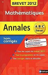 ANNALES BREVET 2012 MATHS COR