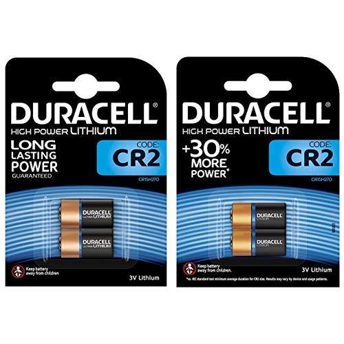 Duracell High Power Lithium CR2 Batterie 3V, 2er-Packung (CR15H270) entwickelt für die Verwendung in Sensoren, schlüssellosen Schlössern & Duracell Typ 123 M3 3 V Lithium Fotobatterie, (2er pack) - Cr2 Lithium-batterie-ladegerät