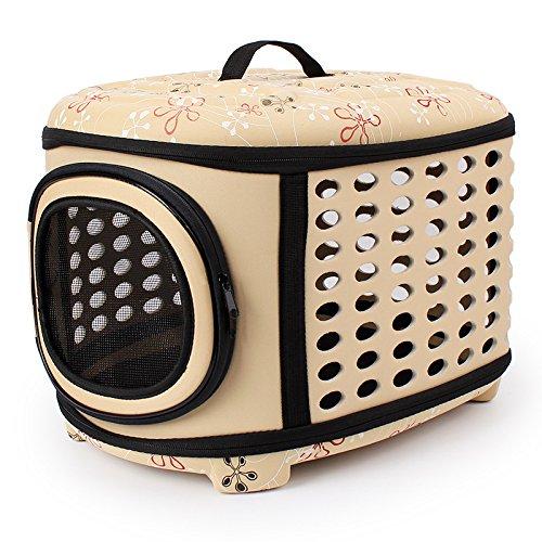 Tragbare Pet Cat Dog Carrier Käfig klappbar Travel Zwinger-Faltbare Transportbox Outdoor Schultertasche für Klein Animal Puppy Kitty