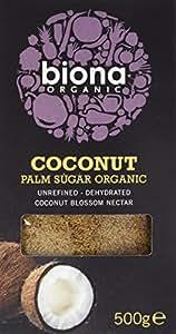 Biona Sucre de Coco et de Palme Bio 500 g - Lot de 3