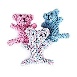 Luwu-Store Braided Knotted Bear Rope Toys for Pet Dog Puppy Cat Chew Toy Random Color