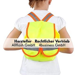 Rucksack für Kinder mit Reflexstreifen in gelb/orange