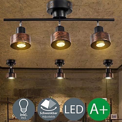 SGWH LED Spot Licht Retro Industrie Wand Spot Strahler Deckenleuchte Vintage Schwenkbare Einstellbare Flexible Wandleuchte Dekorative Innenbeleuchtung Für Wohnzimmer Schlafzimmer Küche Balkon Bar 5 Wa - Wa Spot