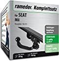 RAMEDER Komplettsatz, Anhängerkupplung abnehmbar + 13pol Elektrik für SEAT Mii (112903-10094-2)