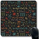 Alfombrillas para computadoras Dibujar a mano en la escuela Química en biología Fórmula química Estructura del átomo Ciencia Forma oblonga Alfombrilla para ratón antideslizante Oblong Gaming 30X25CM