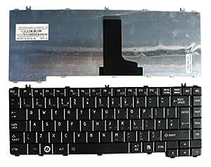 Toshiba Satellite L645-S4026RD Noir Layout Royaume-Uni Clavier pour ordinateur portable (PC) de remplacement