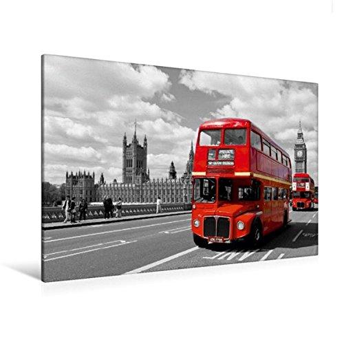 Und Weiß-wand-kunst-himmel Schwarz (Premium Textil-Leinwand 120 cm x 80 cm quer, LONDON Houses of Parliament und rote Busse | Wandbild, Bild auf Keilrahmen, Fertigbild auf echter ... Klassiker aus London (CALVENDO Orte))