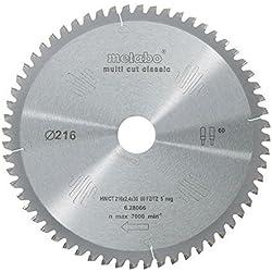 Metabo - 6.28066 - Lame de scie circulaire - HW/CT 216 x 2,4/1,8 x30 mm