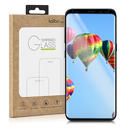 kalibri-Echtglas-Displayschutz-fr-Samsung-Galaxy-S9-3D-Schutzglas-Full-Cover-Screen-Protector-mit-Rahmen-Glas-Folie-auch-fr-gewlbtes-Display-in-Schwarz