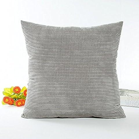 Square Pillow Case,Kingko® Anti-pilling Polar Fleece Car Pillowcase Sofa Waist