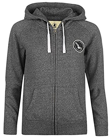 Ladies Casual Signature Zipped Fleece Lined Hoodie (12, Dk Charcoal M)