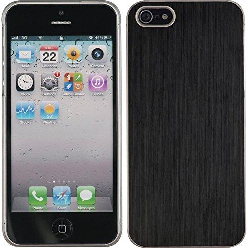 coque-rigide-pour-apple-iphone-5-5s-se-metallique-noir-cover-phonenatic-cubierta-films-de-protection