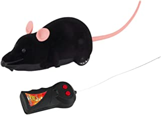 ROSENICE Electric Mouse Remote Control Animal Pet Cat Toys, Free size (Black)