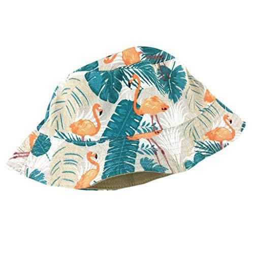 Herren Fischerhut Flamingo Aufdruck Caps Mode Casual Bucket Hat Frühling Einfache Herbst Männer Mützen Hut Hüte (Color : F, Size : One Size)
