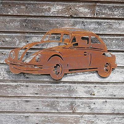 Unbekannt Edelrostschild VW Käfer von Lüdemann - Du und dein Garten