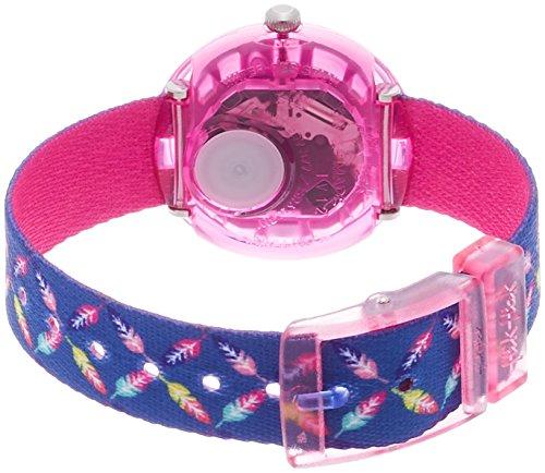 Flik Flak Mädchen Analog Quarz Uhr mit Stoff Armband FPNP016 - 2