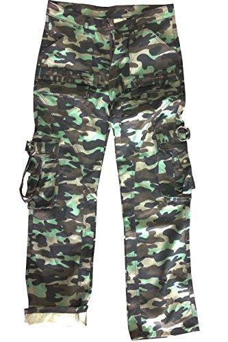 Frauen Jeans Camo (Juicy Trendz Frau Hosen Armee Militär Damen beiläufig Ladung keuchen Li Camo XL)