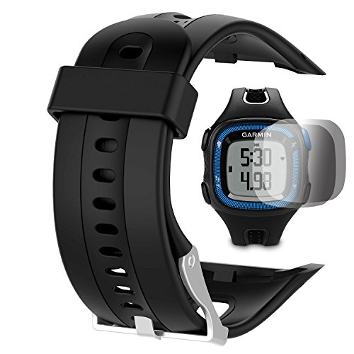garmin-forerunner-10-15-bandsmall-25cm-screen-with-screen-protector-tusita-replacement-soft-silicone