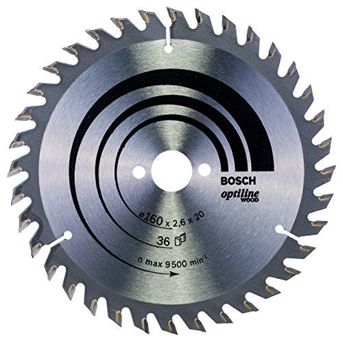 BOSCH 2 608 640 597  - HOJA DE SIERRA CIRCULAR OPTILINE WOOD - 160 X 20/16 X 2 6 MM  36 (PACK DE 1)
