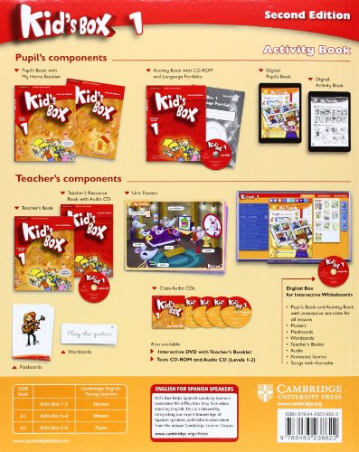 Kid's Box for Spanish Speakers Level 1 Activity Book with CD-ROM and Language Portfolio Second Edition - 9788483238622