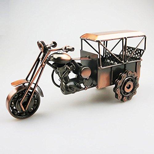 AT-1923 Eisen-Dreirad Moto Modell Handgemachte Metall Handwerk Motorrad Ornamente Retro Wohnzimmer Schlafzimmer Desktop Home Decor Kinder Geschenke