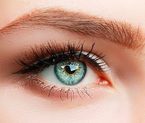 ELFENWALD farbige Kontaktlinsen, 3-Monatslinsen, besonders natürlicher Look, maximaler Tragekomfort, SUPREME Serie, ohne Stärke, 1 Paar weiche Farblinsen ohne Zusatzbehälter (Blau) (Kontaktlinsen Farbige Natürliche)