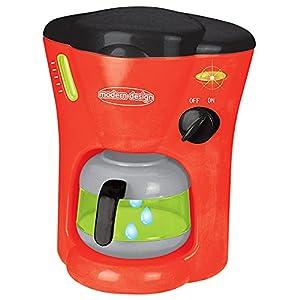 Joueco bn0193929Juegos de imitación-Cafetera eléctrica, Rojo/Gris