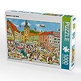 Sommer in der Stadt 1000 Teile Puzzle quer