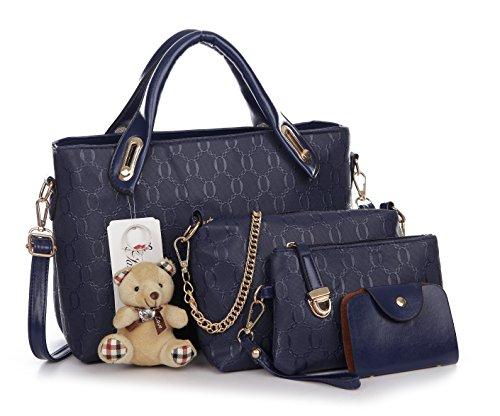 Pahajim Damen Handtaschen Handtaschen Leder Frauen Handtaschen Set 4 teiliges Fashion Rucksack Damenhandtasche tasche taschen günstig beuteltasche günstige handtaschen