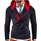 FRAUIT Mode Patchwork Langarm Männer Pullover Sweatshirt Mantel Stand Kragen Pullover Outwear 100% Baumwolle Volle Größe Outwear