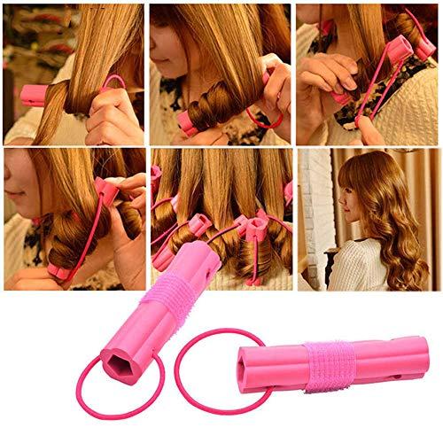 Homclo 6 Stück Lockenwickler magic schwamm Diy spiral rollen Haare roller Lockenstäbe kunststoff mit Styling-Werkzeug haarschonend Damen Frauen
