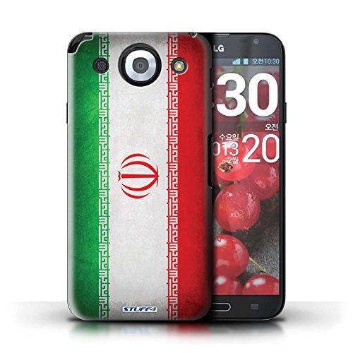 Kobalt® Imprimé Etui / Coque pour LG Optimus G Pro / Pays-Bas conception / Série Drapeau Iran