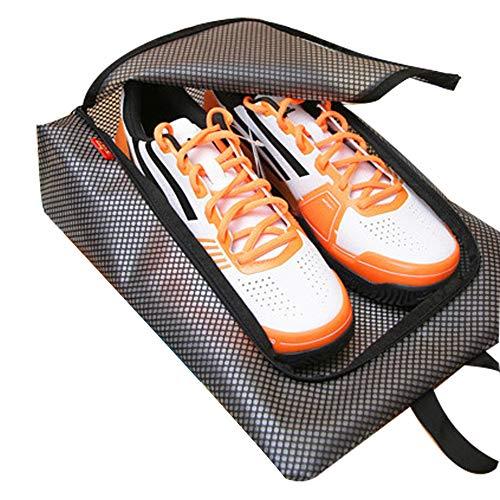 RUNFON borsa per scarpe da viaggio per griglie Portable mesh shoe Storage Bag cerniera impermeabile shoe organizer leggero borsa portaoggetti da uomo e da donna blu Nero