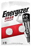 Piles bouton au lithium Energizer 2032, pack de2