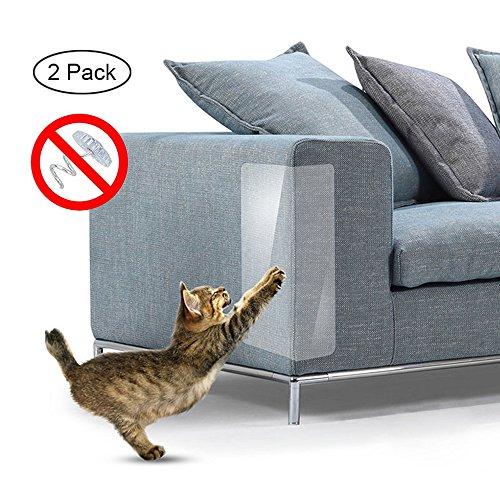 Umiwe Pet Scratch Couch Protector (2PCS), Antigraffio Mobili Cane Cat Art Scratch Guards con Cuscinetti Autoadesivi per Tappezzeria Divano Porta Pareti Materasso Seggiolino Auto 18,5 x 5,91 pollici