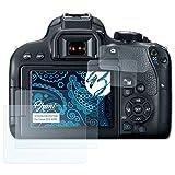 Bruni Schutzfolie für Canon EOS 800D Folie - 2er Set glasklare Displayschutzfolie