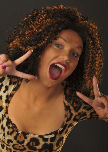 90er Jahre Popstar Mel B geschweifte Scary Spice Perücke