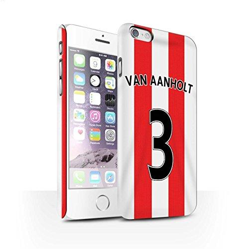 Offiziell Sunderland AFC Hülle / Matte Snap-On Case für Apple iPhone 6 / Borini Muster / SAFC Trikot Home 15/16 Kollektion Van Aanholt