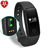 YAMAY Fitness Tracker with Heart Rate Monitor, Bluetooth...