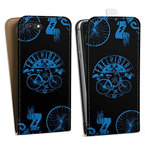 Apple iPhone X Silikon Hülle Case Schutzhülle Fahrrad Freiheit Spruch Downflip Tasche weiß