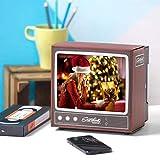 WUYEA Teléfono móvil Pantalla HD Amplificador Retro Pequeño TV Teléfono Celular Lupa DIY Material de Papel Plegable