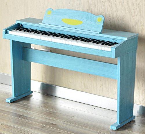 Artesia F-61BL Kinder Digitalpiano (E-Piano, Keyboard, Bank, Kopfhörer, 61 anschlagsdynamische Tasten, 8 Sounds, 1 Demo Song, 32-Fache Polyphonie, USB-Anschluss, inkl. Apps für Android und iOS) blau - 9