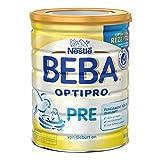 Nestlé BEBA Optipro Pre Anfangsmilch, von Geburt an, Pulver, wiederverschließbar mit praktischer Löffelablage, 6er Pack (6 x 800 g)