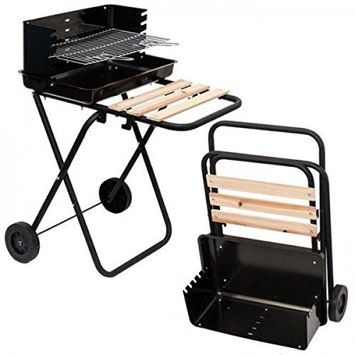 14910 Holzkohle Grill Florida BBQ Barbecue mit Ablagefläche Schwarz