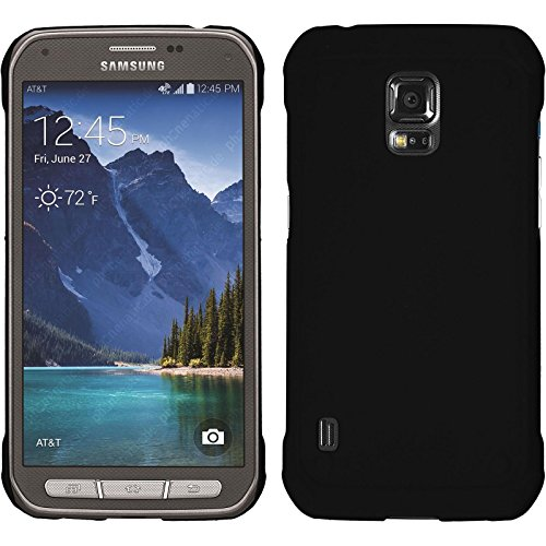 PhoneNatic Case kompatibel mit Samsung Galaxy S5 Active - Hülle schwarz gummiert Hard-case Cover (Phone Cases Galaxy S5 Active)