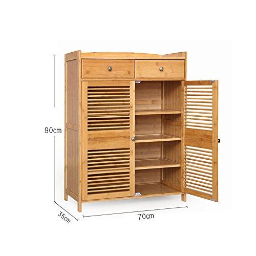 Schuhregal YNN Bambus Massivholz Schuhschrank 3/4-stöckige Lagerung Multilayer für Wohnzimmer Flur Korridor (Größe : 90*35*70cm) (Master 3-regal)