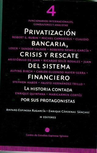 Privatización bancaria, crisis y rescate del sistema financiero. Tomo 4: Funcionarios internacionales, consultores y analistas por Amparo Espinosa Rugarcía